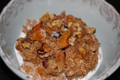 Baked Oatmeal in Bowl