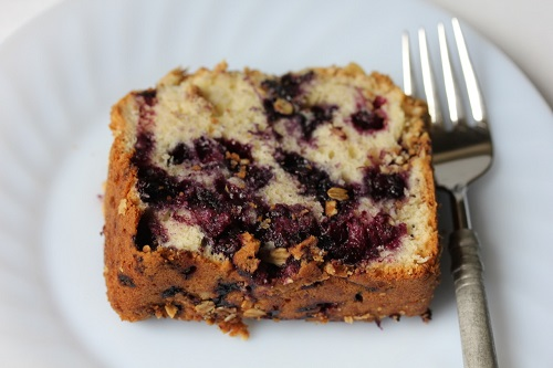 Grandmother Trafton's Blueberry Cake slice