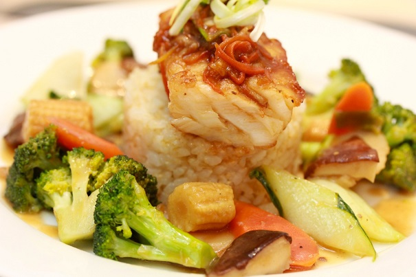 Asian Sea Bass and Stir-Fry Vegetables