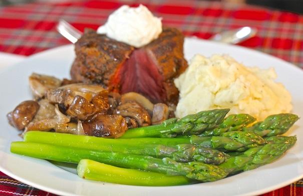 Laura Bush's Beef Tenderloin Dinner