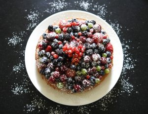 Fruits of forest cake