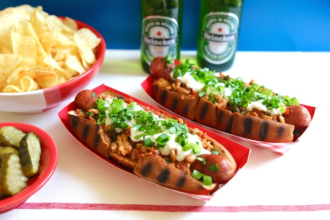 Chili Dogs With Vegetarian Pinto Bean Chili