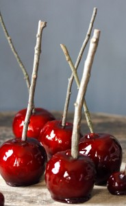 These red hot cinnamon candy apples always remind me of Halloween, or a carnival, or the state fair; they're a great bit of twentieth century Americana