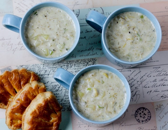 LOUISA ADAMS' CLAM CHOWDER
