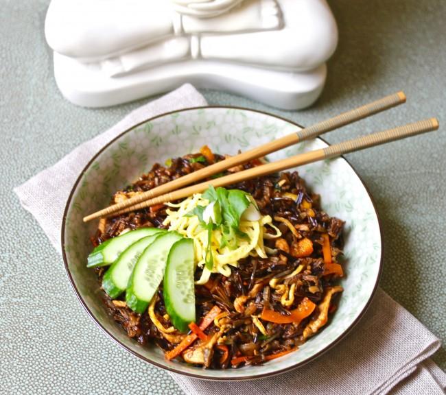 Nasi Goreng with Forbidden Rice