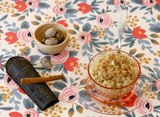 The Search for Delicious: Cinnamon Breakfast Quinoa and Apricot Rose Gramola
