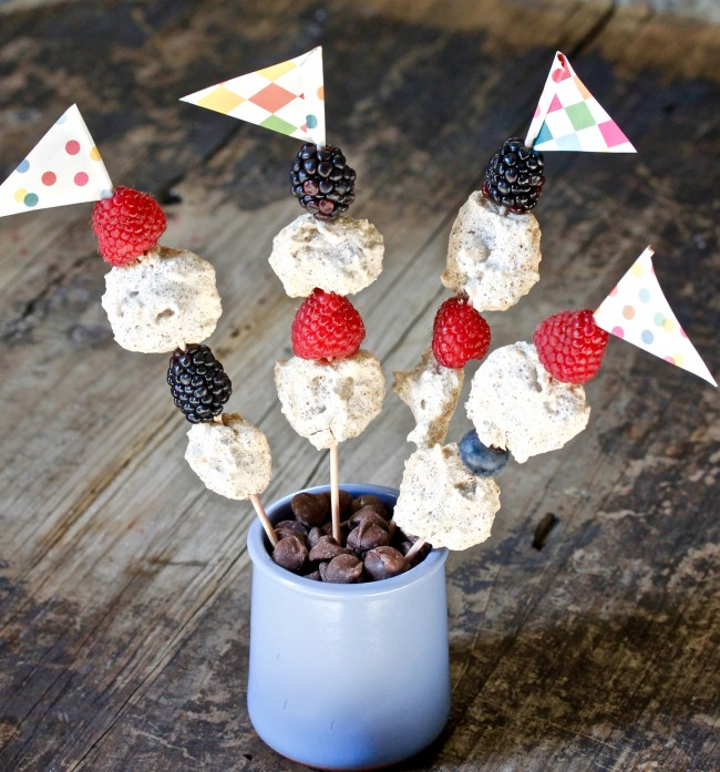 Gluten Free Chocolate Drop Cookie Kebabs