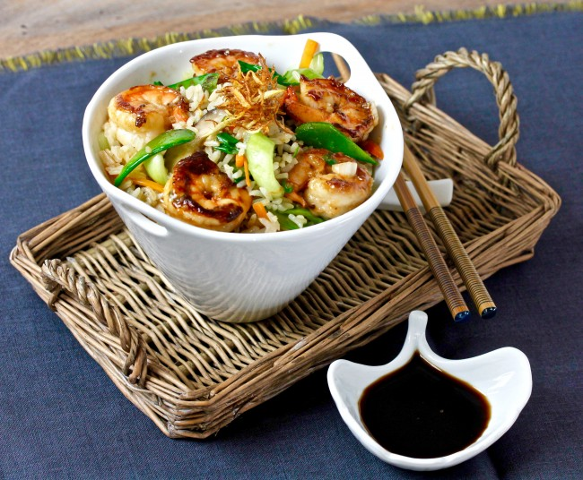Ginger Fried Rice with Shrimp