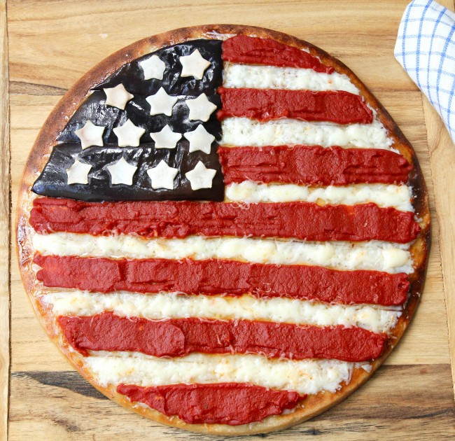 American Flag Pizza on Americas-Table.com