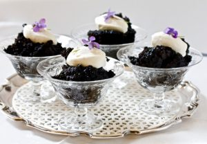 ENGLISH CHOCOLATE PUDDING WITH RUM CREAM on Americas-Table.com