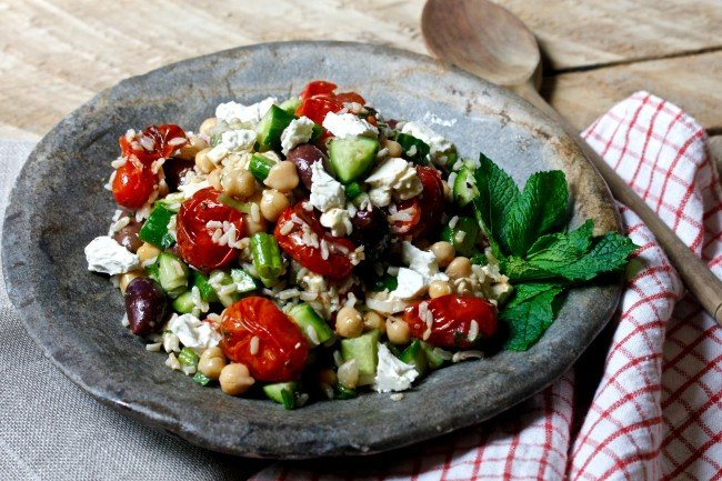 GREEK RICE SALAD on Americas-Table.com
