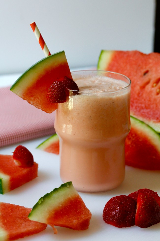 WATERMELON STRAWBERRY MILKSHAKE on Americas-Table.com