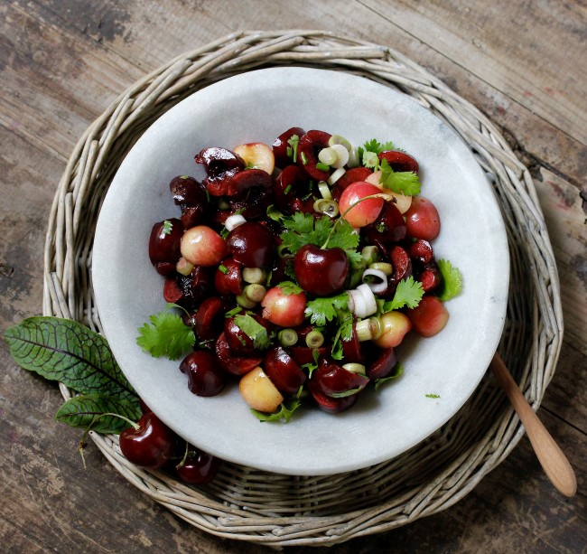 CHERRY AND GREEN ONION SALAD on Americas-Table.com