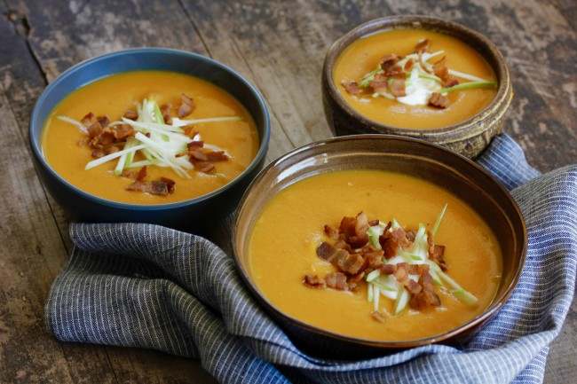 BUTTERNUT SQUASH AND APPLE SOUP on Americas-Table.com