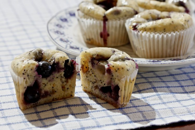 BLUEBERRY GRAPEFRUIT MUFFINS