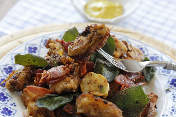 Fried Oysters with Bacon