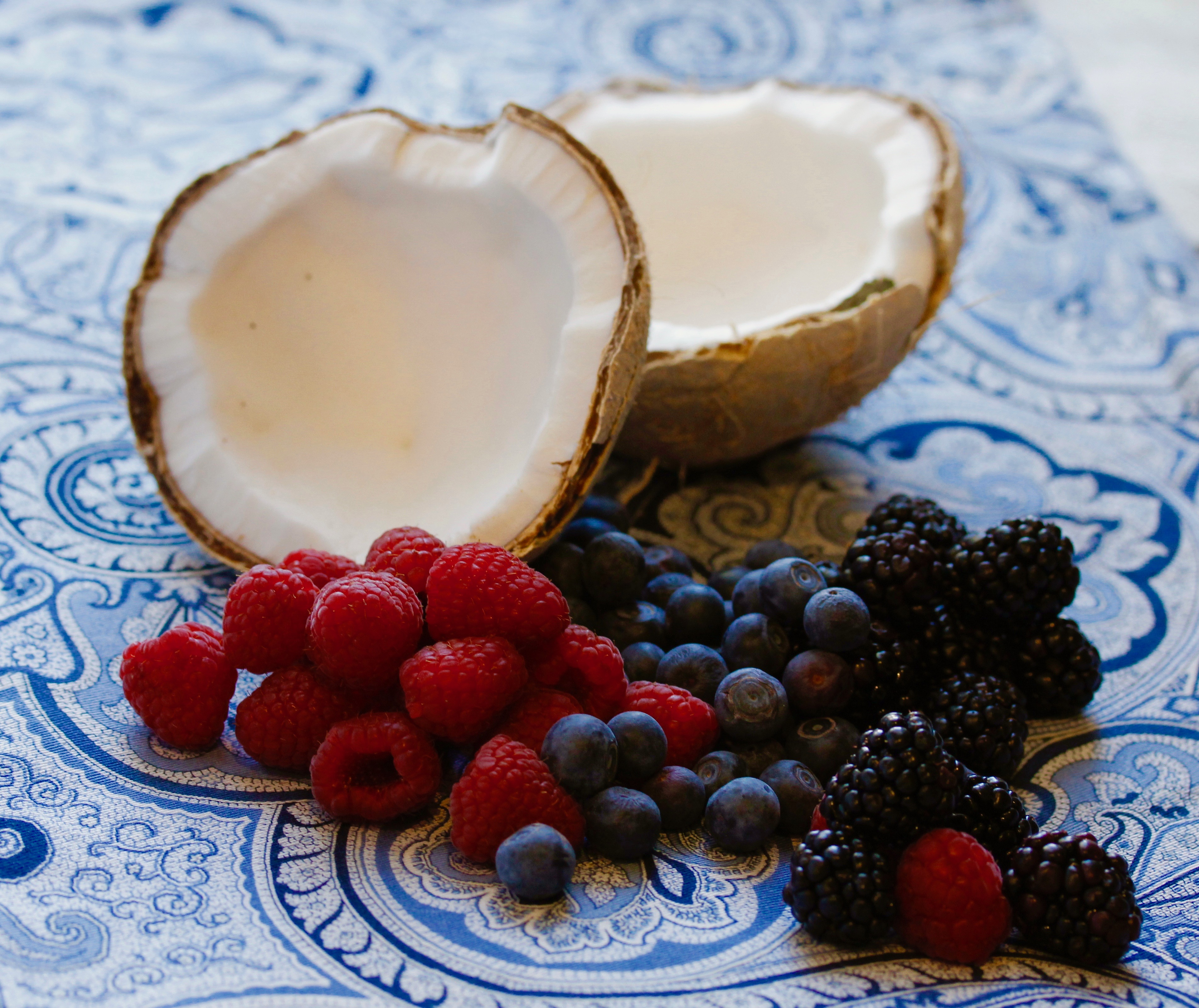 coconuts and berries