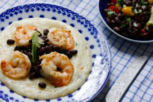 Laura Bush's Cheese Grits and Shrimp