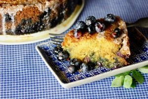 Blueberry Cornmeal Poundcake