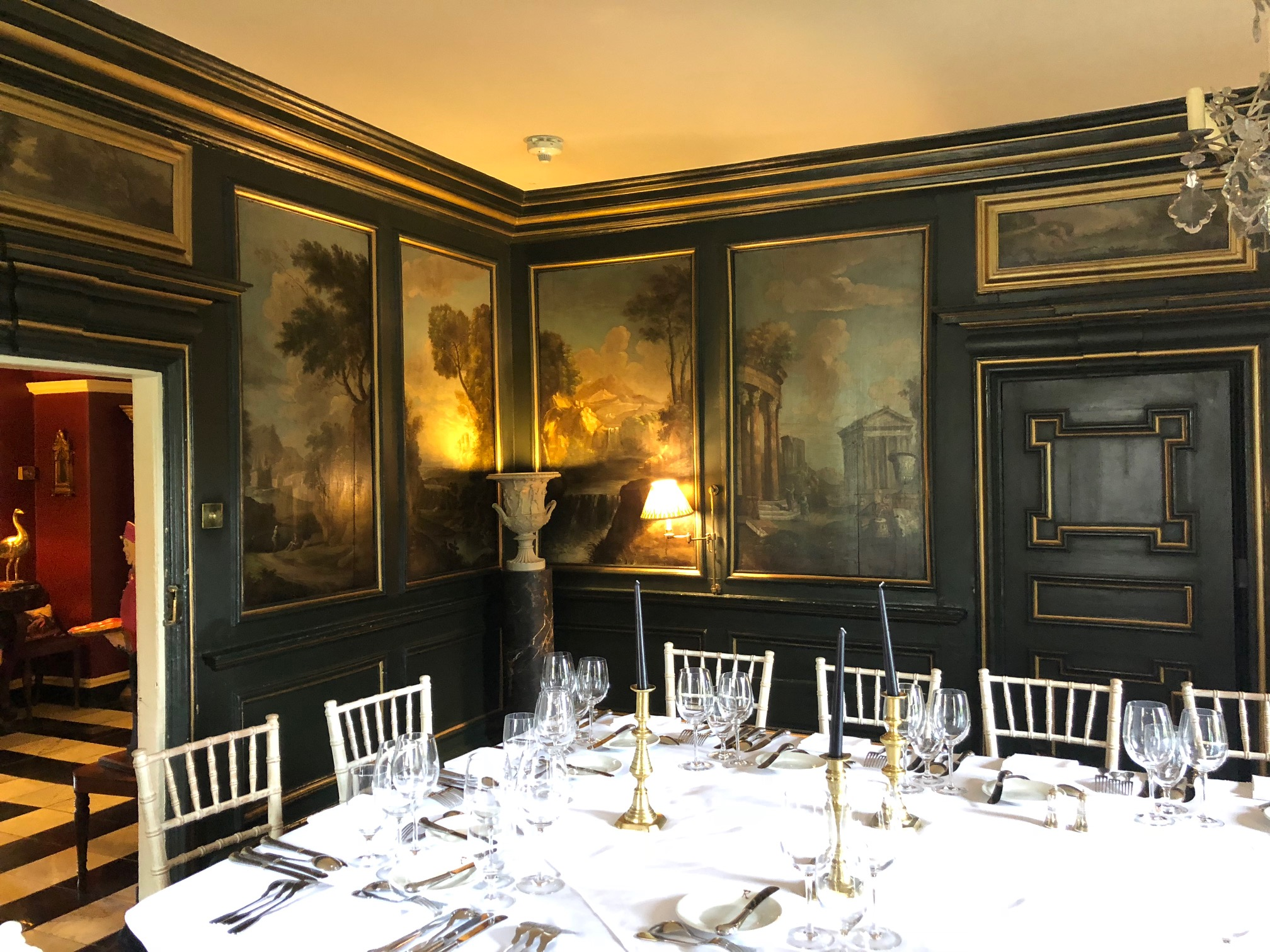 The famous painted room at Prestonfield