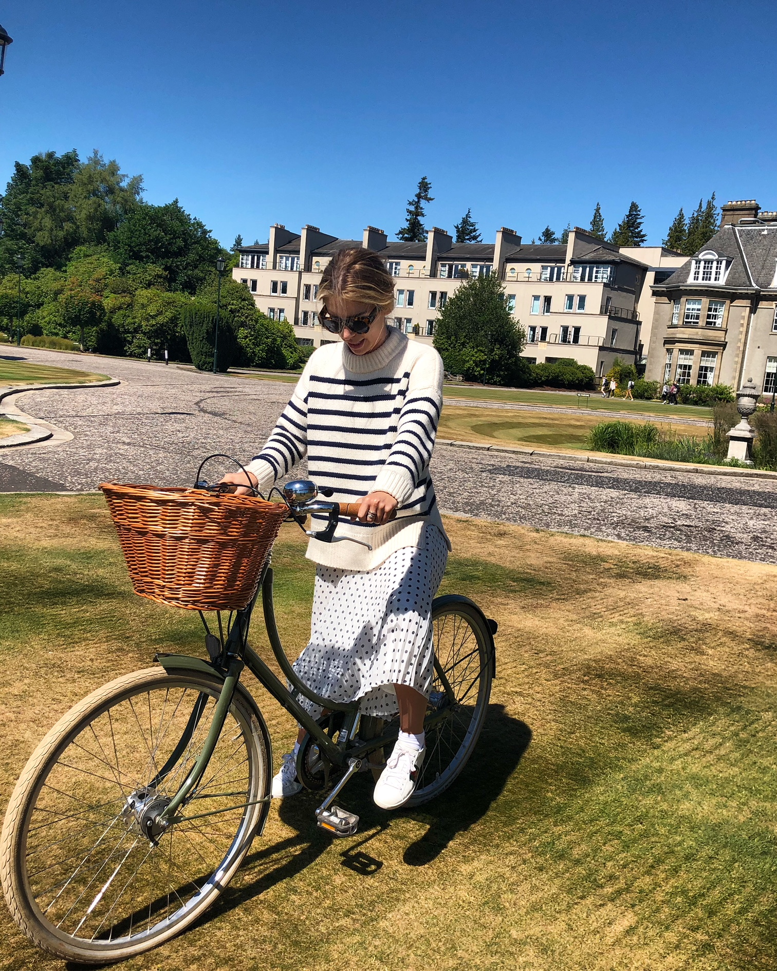 Alice on the custom bikes at Gleneagles
