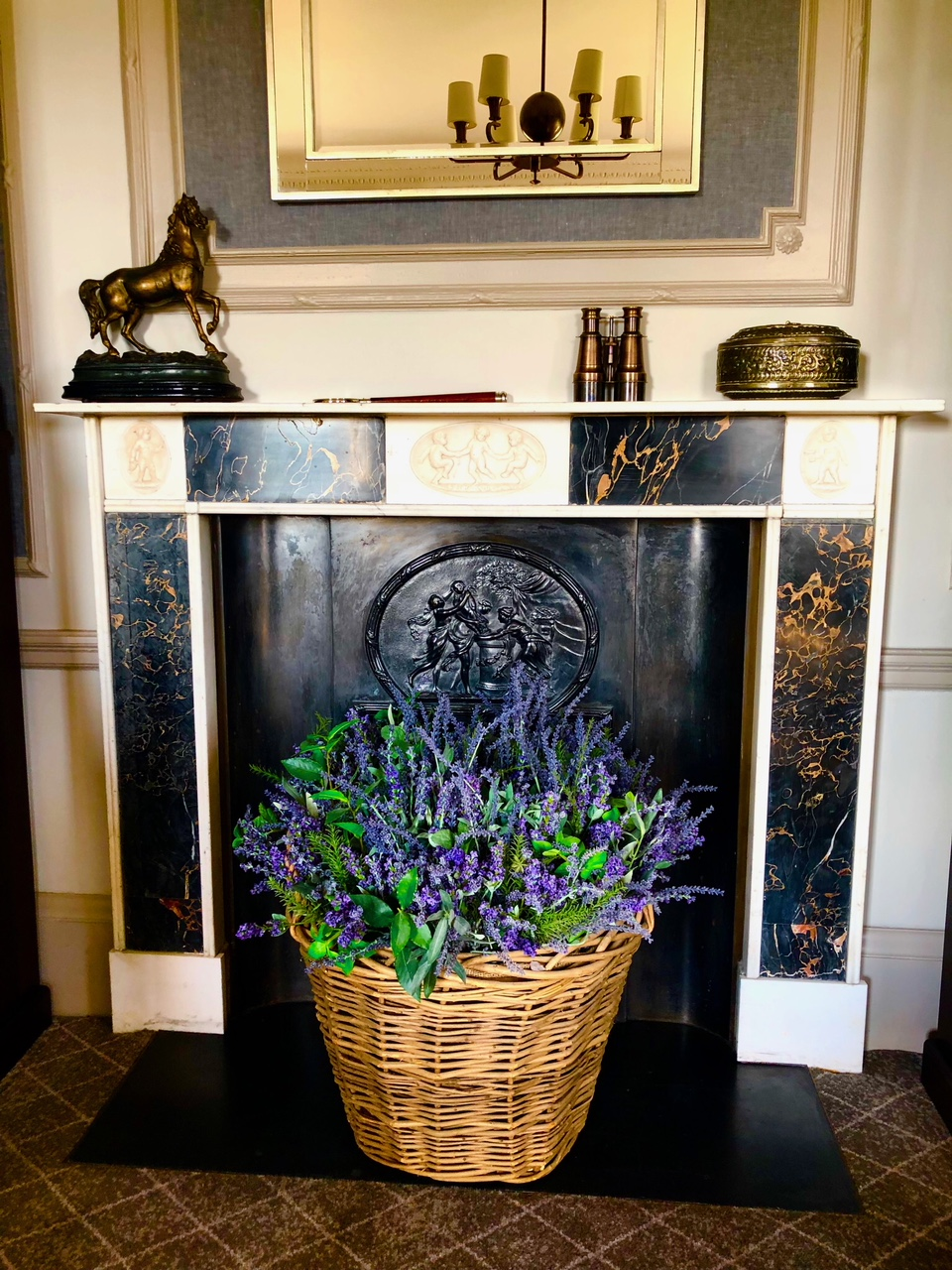 A dreamy lavender basket at Gleneagles