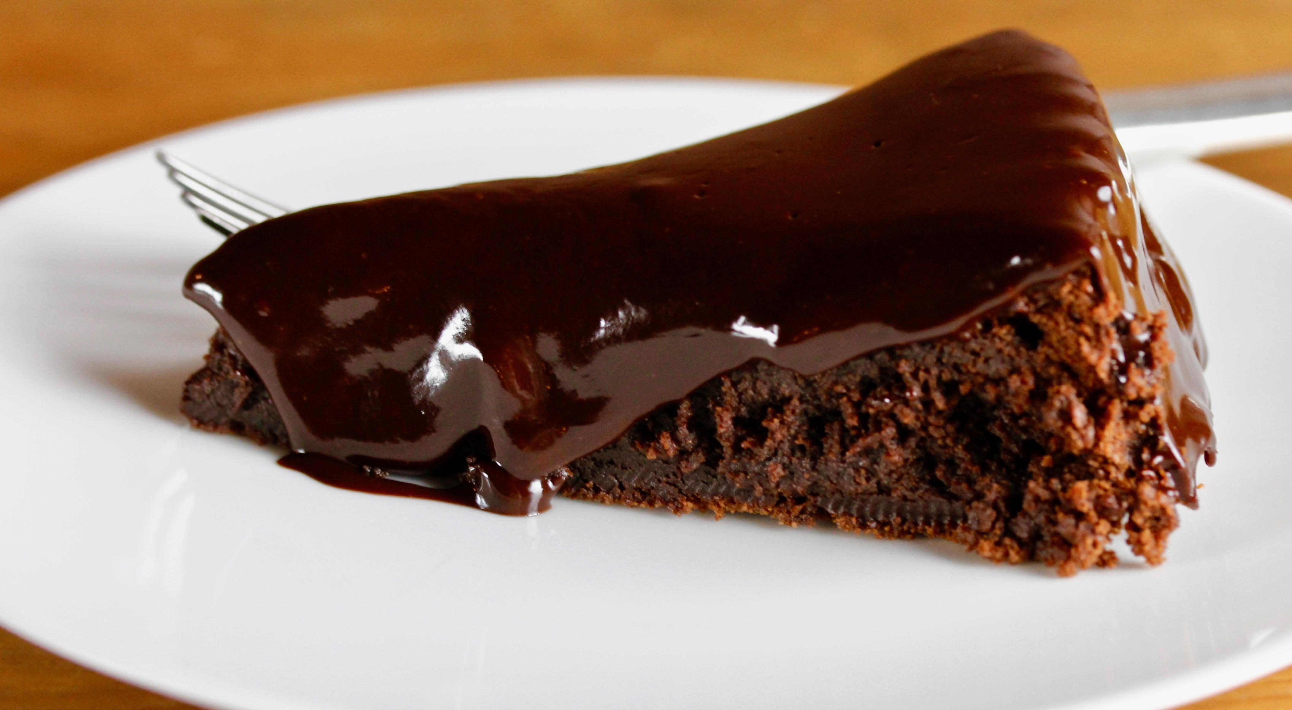 Red Wine Glaze on a Dark Chocolate Cake