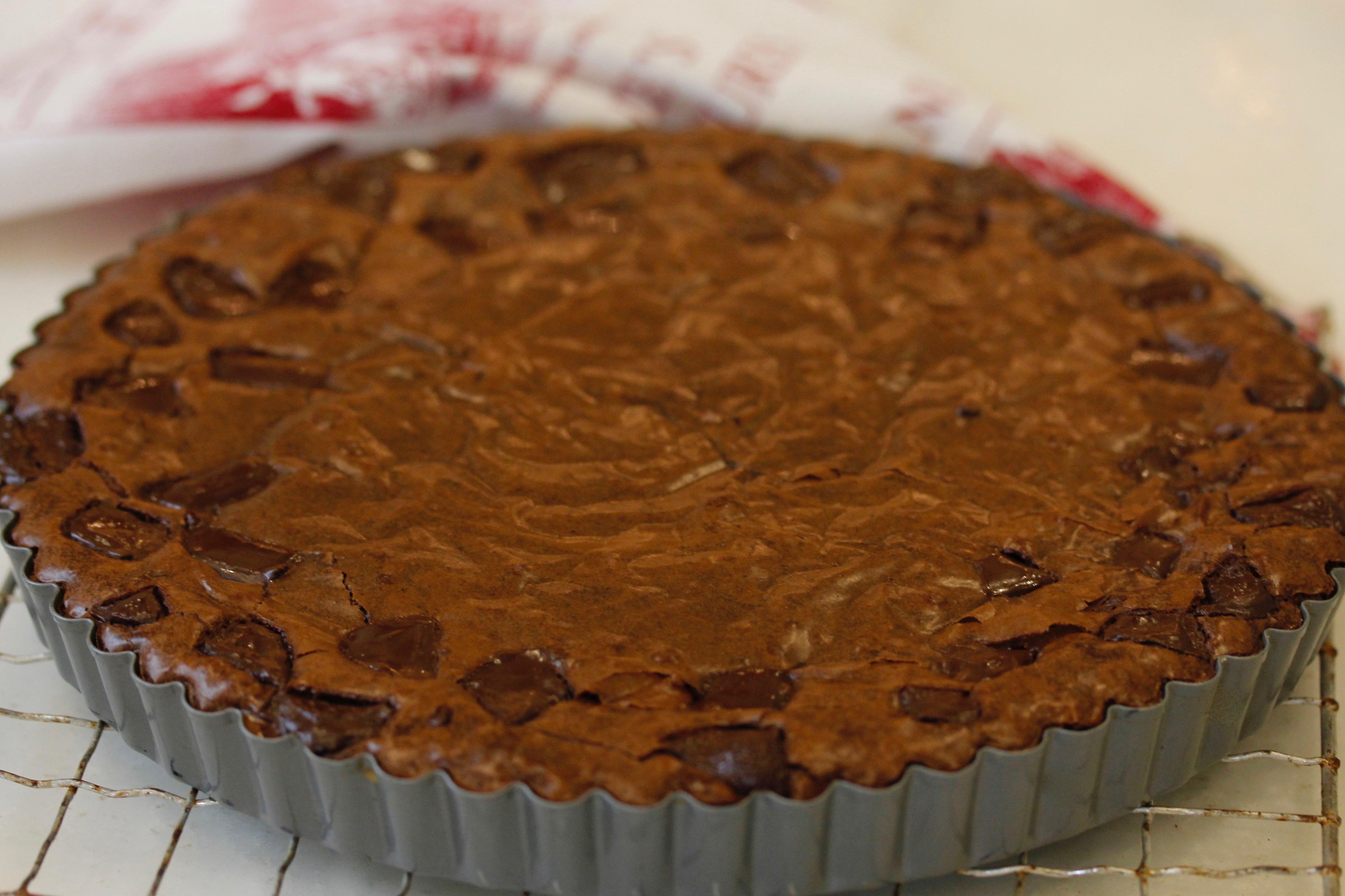 Raspberry Brownie Tart