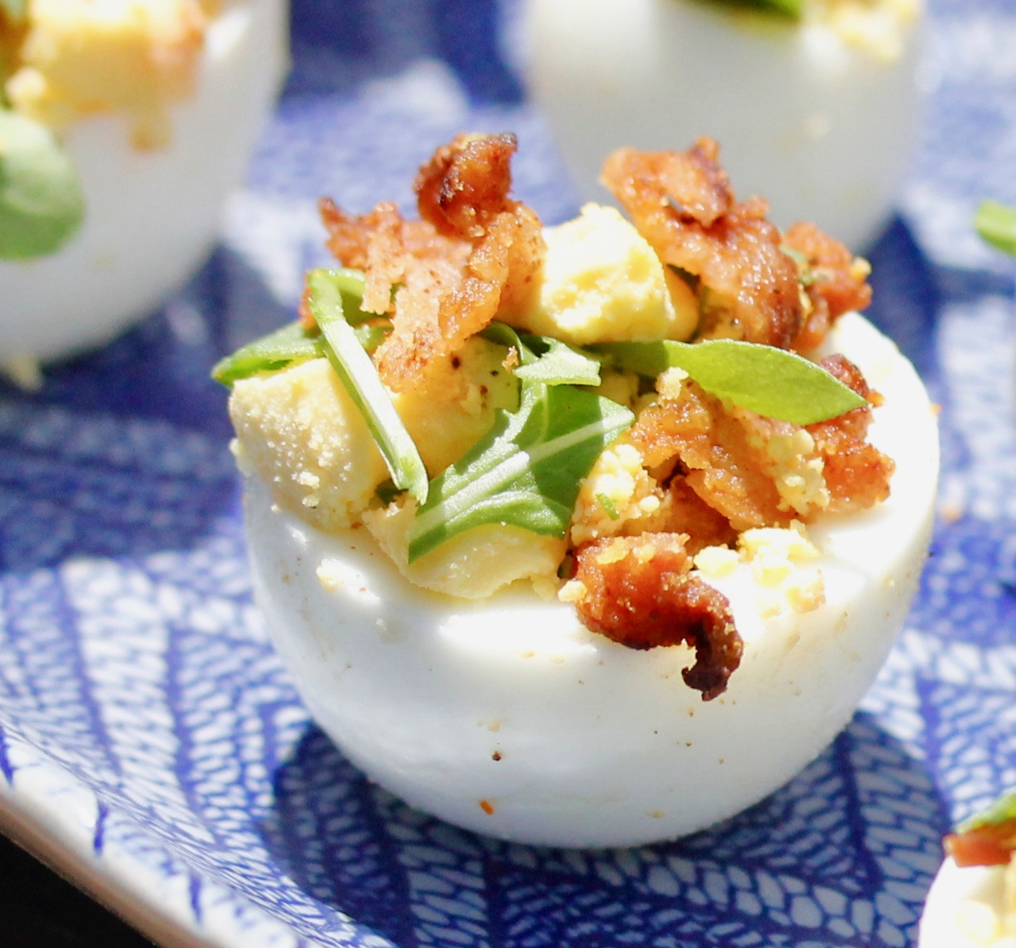 Sideways Deviled Eggs