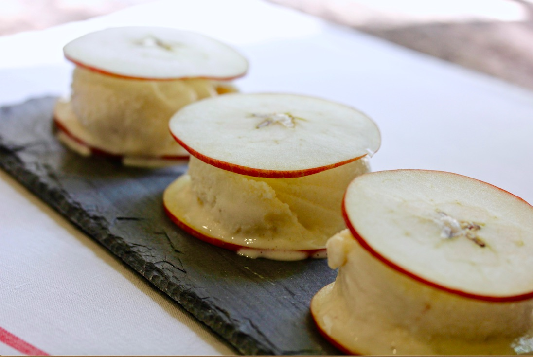 Apple and Yogurt Ice Cream Sandwiches