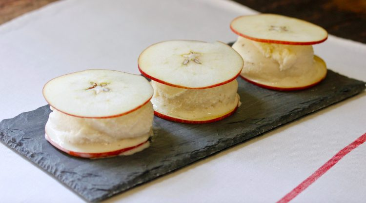 Apple and Yogurt Ice Cream Sandwiches